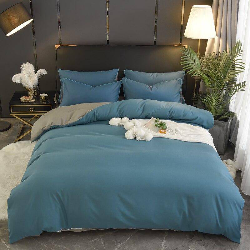 1pcs 100% di copertura del cotone Duvet twin re queen size tessuto trapunta di colore solido della copertura Multi-colore e multi -dimensione opzionale