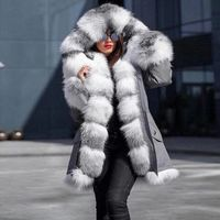 New Style Big Wool Collar Winter Coat Women Fashion Warm Woman Coats Casual Hooded Camouflage Print Jacket Coat Female