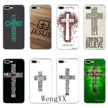 Bible Verse Christian cross jesus Accessories phone case For iPhone 11 Pro XS Max XR X 8 7 6 6S Plus 5 5S SE 4s 4 iPod Touch(China)