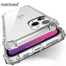 Shockproof Case For Apple iPhone 11 Pro Silicone Cover For iPhone 7 8 6S 6 Plus 5S SE 2020 XS 11 Pro Max Transparent Case Coque(China)