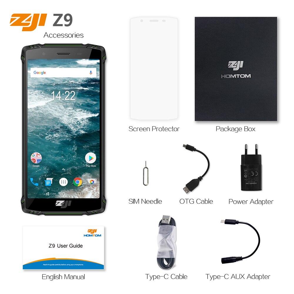 Version mondiale HOMTOM ZJI Z9 Helio P23 IP68 étanche 4G LTE Smartphone 5.7 pouces 6GB + 64GB ROM 5500mAh bandes complètes téléphone portable - 6