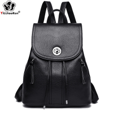 цена на Casual Women Backpack Shoulder Bag Women Leather Backpack Large Capacity Backpacks Student Bookbag School Bags for Teenage Girls