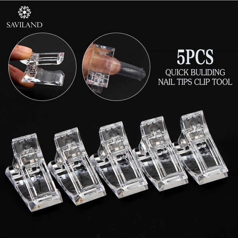 Изогнутый Зажим Фиксирующий для ногтей SAVILAND, 5 шт., 12 шт., искусственные ногти, маникюрные инструменты для ногтей, для полигеля, для наращивания ногтей