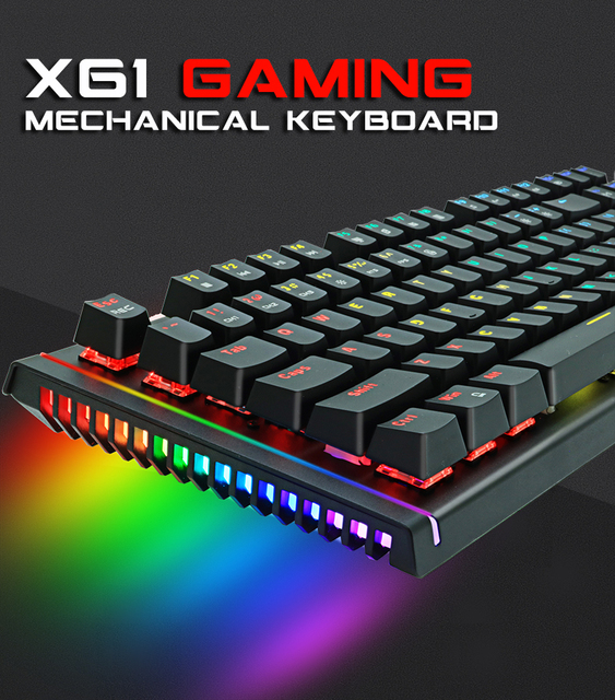 ZUOYA Game Mechanical Keyboard LED Backlit Anti-ghosting Blue/Red/Black Switch wired gaming Keyboard Russian/English for laptop