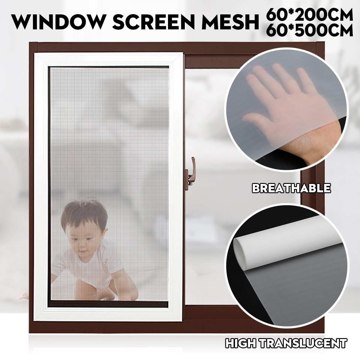 2/5m Super Dense Home Window Screen Mesh PM2.5 Dustproof Insect Fly Curtain Anti Mosquito Door Screens Net Curtain For Kids Room
