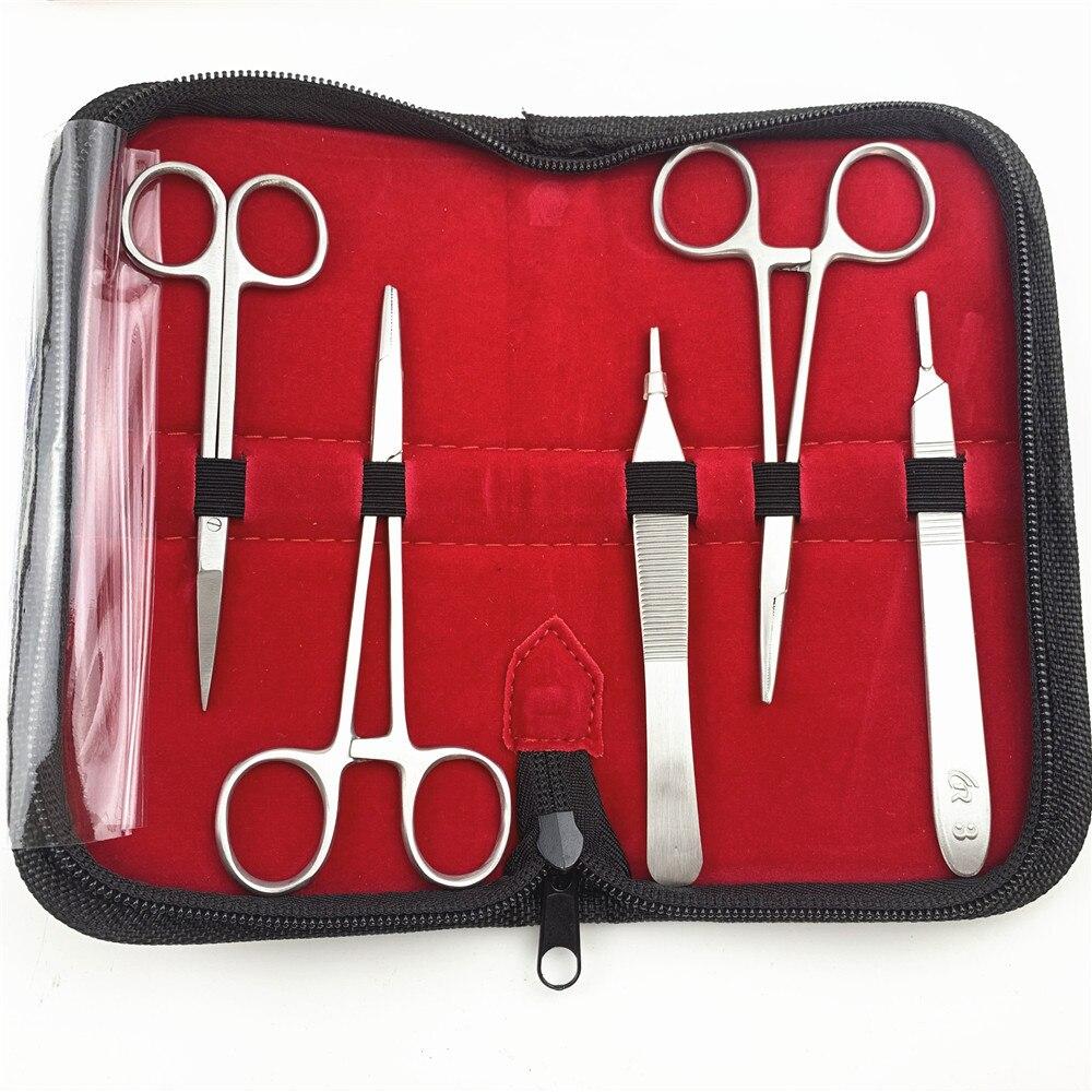 ชุดฝึกเย็บแผลผ่าตัด ชุดกรรไกรผ่าตัด เข็มเย็บแผล ชุดเครื่องมืออุปกรณ์ฝึกอบรมเจ้าหน้าที่หัตถการ นักเรียนแพทย์