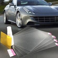 4 adet otomobil araç Anti sis yağmur geçirmez dikiz aynası Sticker pencere koruyucu dekor su geçirmez Film
