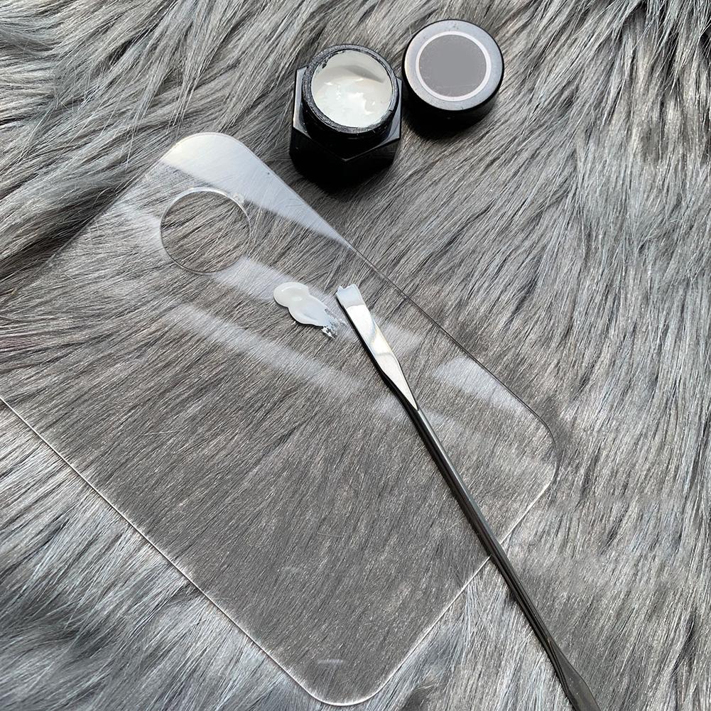 1 set Acrylic Transparent Makeup Palette Polish Gel Watercolor Oil Painting Mixer with Spatula Nail Art Salon Maicure Tools