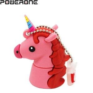 Image 5 - POWERONE, новый стиль, мультяшный единорог, флеш накопитель, 64 ГБ, 32 ГБ, usb флеш накопитель, милая лошадь, флешка, реальная емкость, 4 ГБ, 16 ГБ, карта памяти