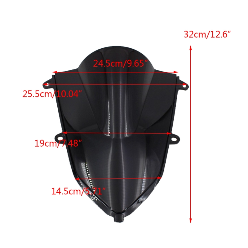 2020 Newest Motorcycle ABS Double Bubble Windshield Fairing Windscreen Screen For Honda- CBR500R CBR400R 2019 2020 1