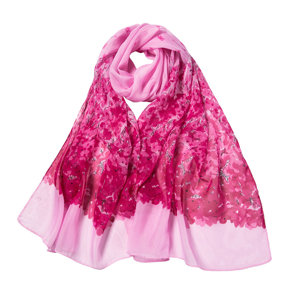 Women Long Soft Wrap Scarf Shawl Scarves Fashion Casual Elegant Winter Warm Gifts For Women Flower Printing Scarfs