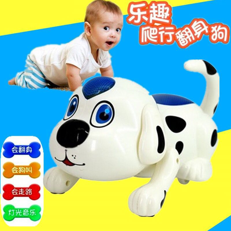 Educational Electric Toy Dog Kids Growth CHILDREN'S Toy Rolling WAG Dog The Mid-autumn Festival Gift Birthday Gift