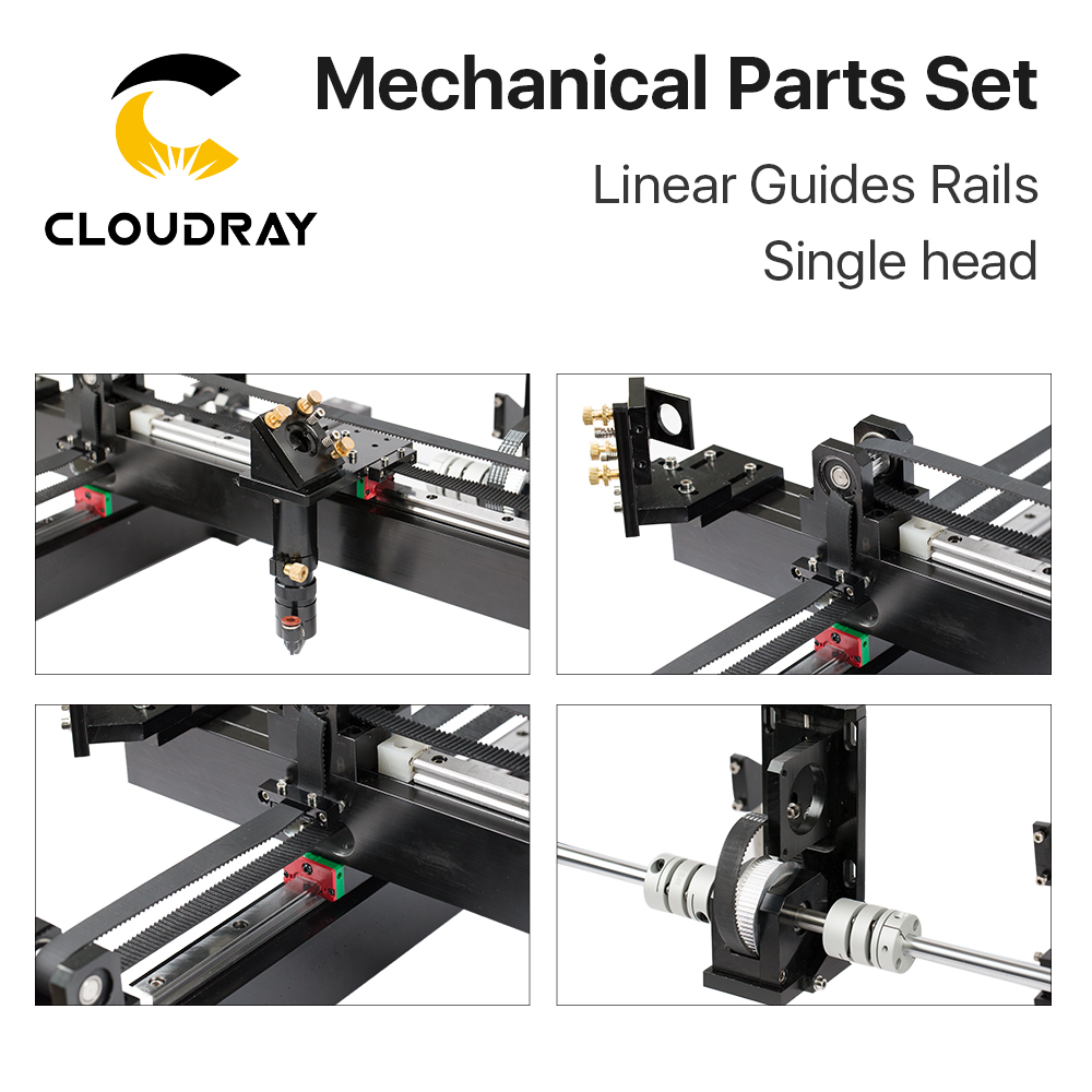 Image 4 - Cloudray Mechanical Parts Set 1300mm*900mm Single Double Head Laser Kits Spare Parts for DIY CO2 Laser 1390 CO2 Laser Machineparts machineparts forparts kit -