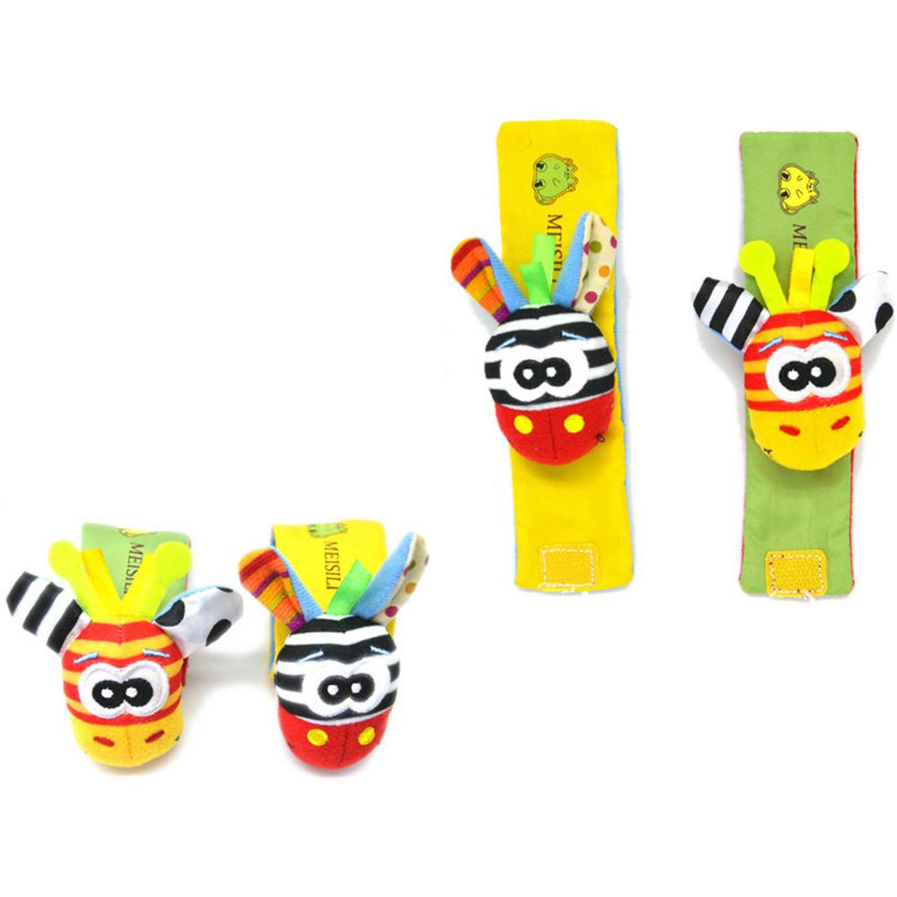 1PC Wrist Rattle Educational Toy Baby Cartoon Stereo Toy