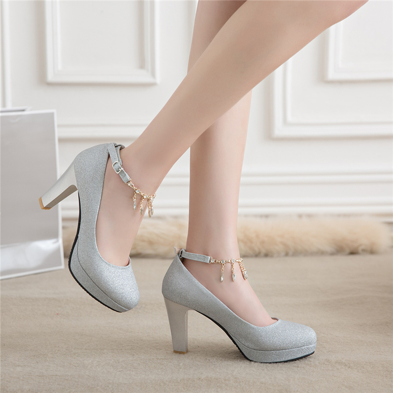 Fashion Female High Heels Sexy Shoes Luxury Gold Silver Pink Women's Heels Pumps Party Office Wedding Shoes New Designer 3
