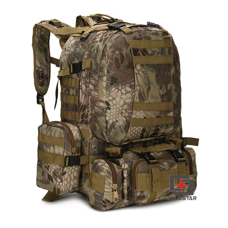 Cross Border For Outdoor Camping Backpack Army Camouflage Hiking Bag Mountain Climbing Large Tactical Combination Backpack A Gen