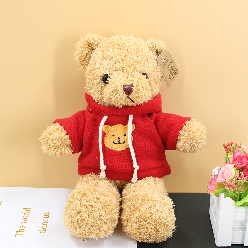 30cm Soft Teddy Bear Plush Toy Stuffed Animals Accompany Toy Playmate Doll PP Cotton Kitds Toys Christmas Birthday Gifts