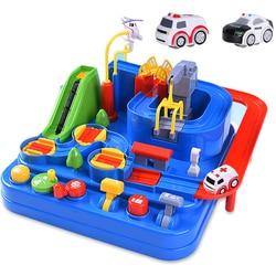 Гоночная модель автомобиля, гоночные развивающие игрушки, детская дорожка, автомобиль, приключенческая игра, игра мозга, механическая инте...