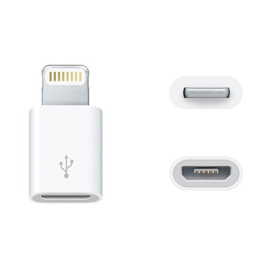 <font><b>Adapter</b></font> converter Micro USB to Lightning 8 Pin for Apple <font><b>iPhone</b></font> 4 5 5C 5S SE 6 <font><b>7</b></font> 8 9 Plus X XR XS Max 11 Ipad image