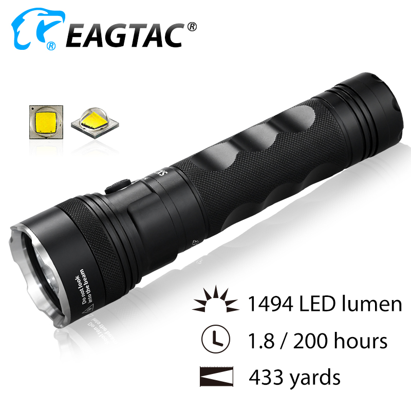 EAGTAC SX25A6 LED Flashlight 1494 Lumens 6*AA Battery Three Outputs Instant Strobe SOS Flash Beacon - 1
