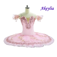 Pink Fairy Professional Ballet Tutu With Flowers Adults Dress sleeping beauty ballet costumes