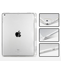 soft tpu Case for iPad 9.7 2017 2018 Air 1 2 Pro 9.7 TPU Silicone soft case cover For iPad mini 1 2 3 4 5 With pencil holder tablet case (3)