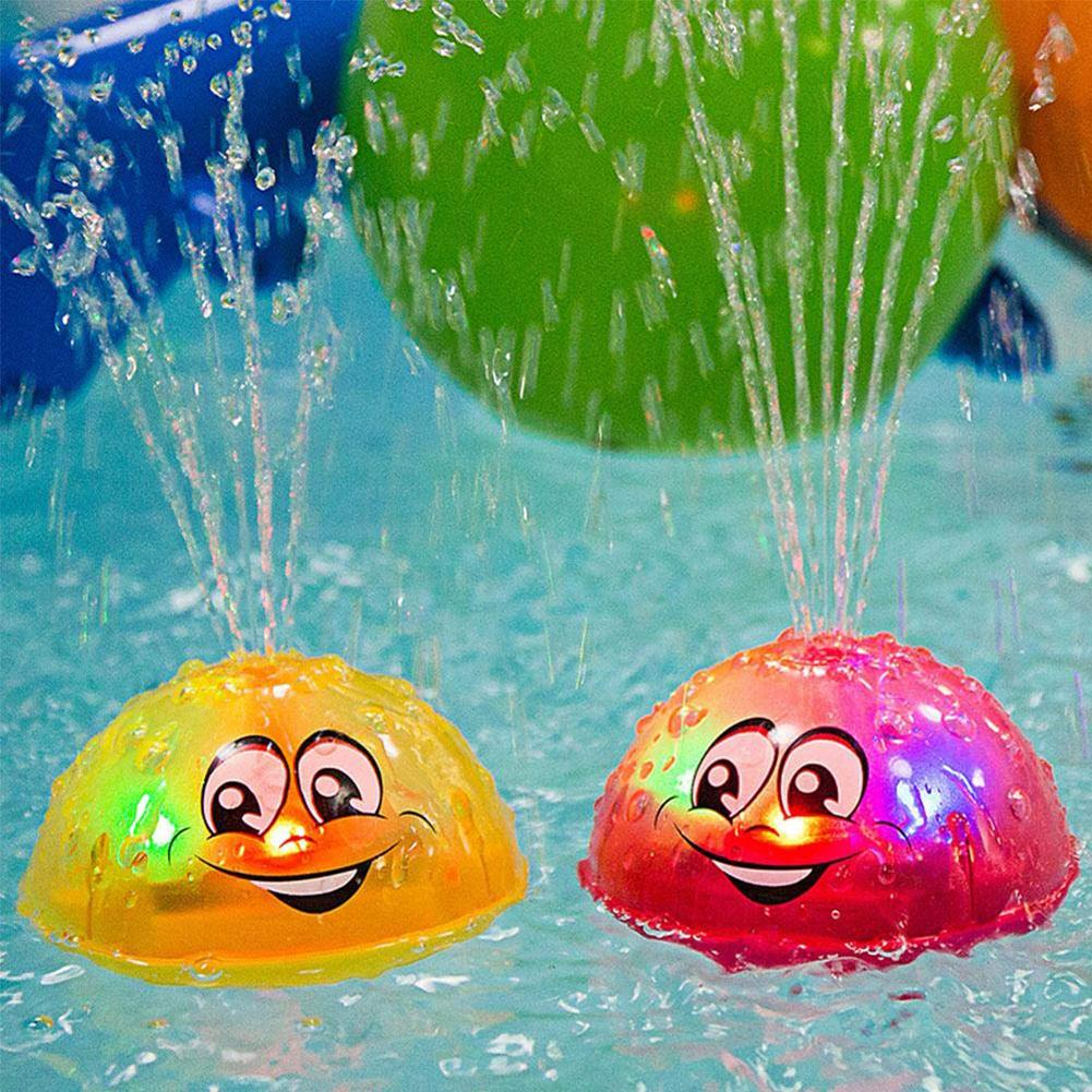 Baby Bath Toy Cute Cartoon Light Music Sprinkler Water Splash Ball Kids Baby Bath Pool Toy Led  Light  Funny Toy