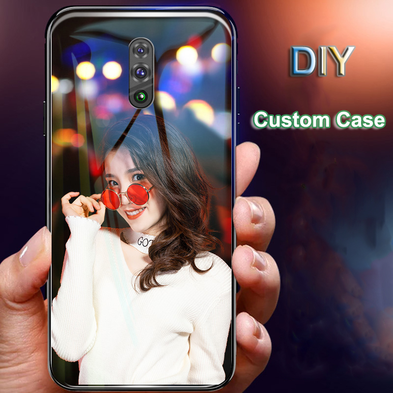 DIY Tempered <font><b>Glass</b></font> <font><b>Case</b></font> for <font><b>OPPO</b></font> Reno 2Z 5G 10X Realme Ace 3 Pro X2 X Lite K3 F11 Pro K1 R15X A77 F9 A73 F5 <font><b>A3</b></font> A83 Custom Cover image