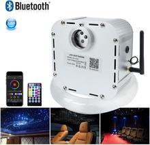 الصوت المنشط الألياف البصرية ضوء عدة 32 واط RGB وميض تأثير RF تحكم 800 قطعة/1000 قطعة الألياف البصرية مع APP المراقب المالي