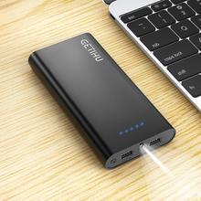Iniu 20000 mah 2.4a banco de potência dupla usb carregador portátil powerbank telefone powerbank bateria externa para iphone 11 xiaomi etc