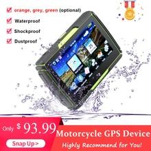 Lo más nuevo de 4,3 pulgadas pantalla táctil motocicleta GPS dispositivo de navegación portátil al aire libre impermeable a prueba de golpes navegador GPS a prueba de polvo