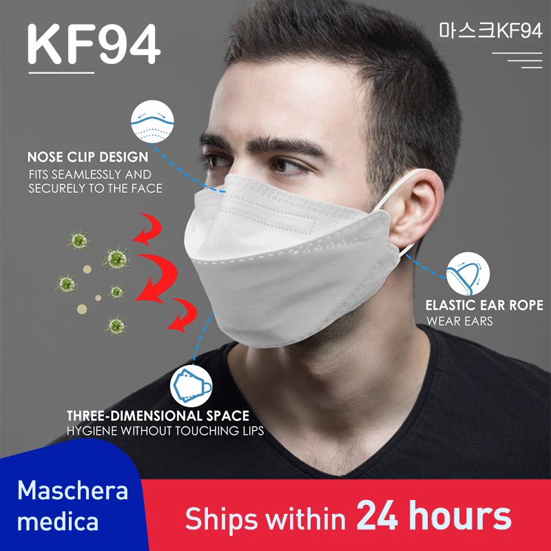 마스크kf94 100PCS Face Mask 4 Layer Non-woven Breathable Anti Dust Mouth Nose Covers Protective Face Mouth Mask Dust Proof Mask 마스크