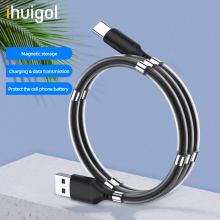 цена на ihuigol 1m Magnetic Storage USB Cable For iPhone 11 XS 7 8 Samsung Xiaomi mi 10 8 Pin Micro USB C Phone Cable Charging Data Cord