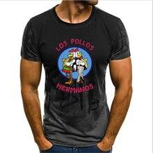 Gradiente hombres unisex romper camiseta Bad LOS POLLOS camiseta Hermanos LOS POLLOS Hermanos manga corta Hipster gran oferta Tops