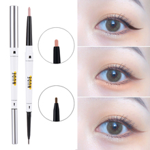 2 in 1 Pearlescent Eyeshadow Eyeliner Pen Long-Lasting Makeup No Smudging Waterproof Lower Eyelid Highlight Shiny Natural Makeup