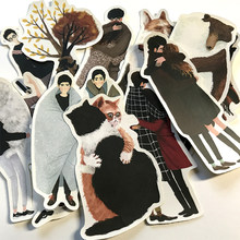 12pcs Romantic couple hugging Waterproof laptap stickers for Home decor on laptop decal fridge skateboard doodle toy sticker
