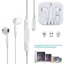 Com fio relâmpago fones de ouvido para iphone 7 8 8p x xr xs max alta fidelidade som in-ear fones de ouvido estéreo com microfone e controle de volume