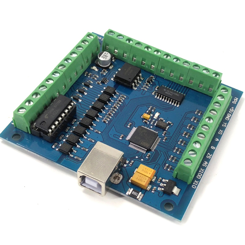 Hot Sale CNC MACH3 USB 4 Axis 100KHz USBCNC Smooth Stepper Motion Controller Card Breakout Board For CNC Engraving 12-24V