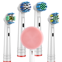 Toothbrush-Heads Replacement Oral-B White/floss Cross-Action/sensitive Precision-Clean/3d
