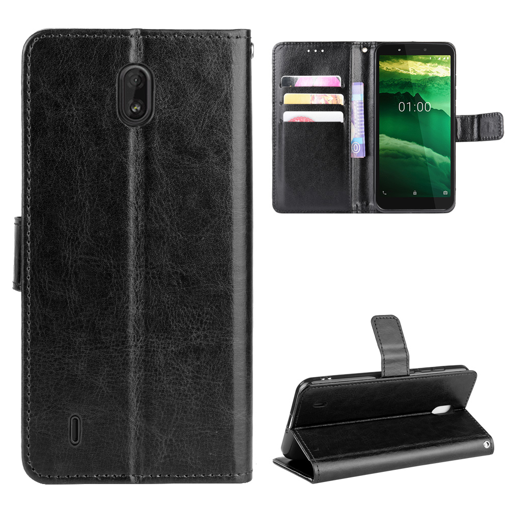 For Nokia C1 Case 5.45 Inch Luxury Leather Flip Wallet Phone Case For Nokia C1 TA-1165 Case Stand Function Card Holder