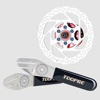 Toopre bicicleta freio a disco rotor alinhamento truing ferramenta de ajuste durável chave aço inoxidável|Ferramentas p/ reparo de bicicletas| |  -