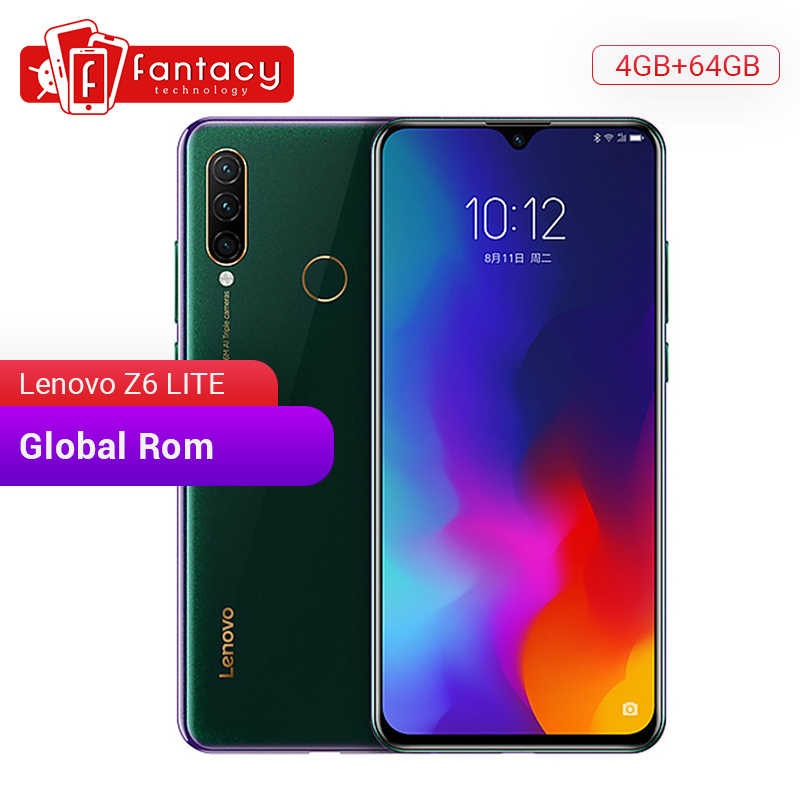 Global ROM Lenovo Z6 Lite 4GB 64GB Snapdragon 710 Octa Core Smartphone 6.3 Inch Screen Triple Camera Android 9.0 Quick Charge