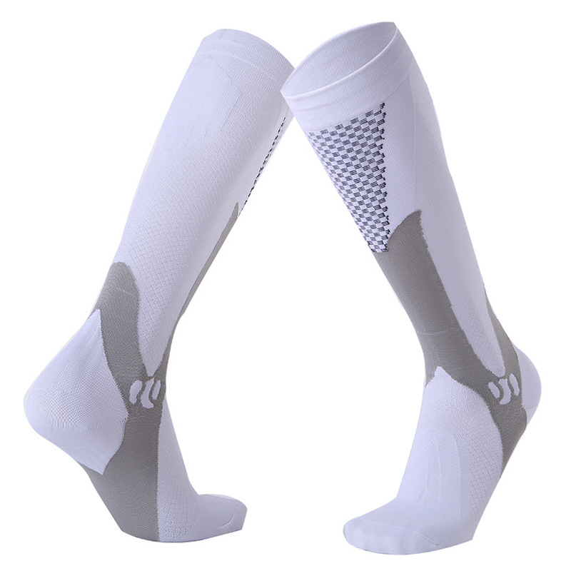 Image 5 - Long Tube Compression Stockings For Men And Women Marathon Outdoor Sports Socks Adult Running cycing pilates Compression Socks-in Hiking Socks from Sports & Entertainment