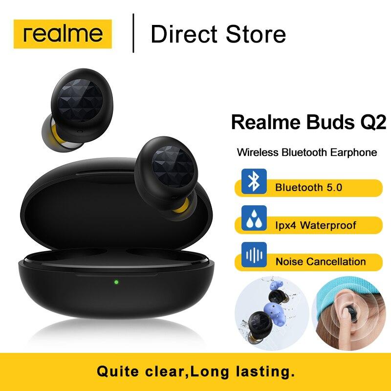 Tws-наушники Realme Buds Q2 с шумоподавлением, водостойкие