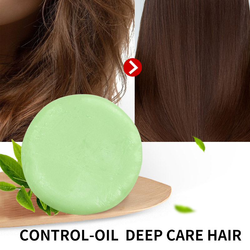 2019 NEW!!!!Green Tea Fragrance Hair Handmade Moisturizing Nourishing Hair Care Soap H01
