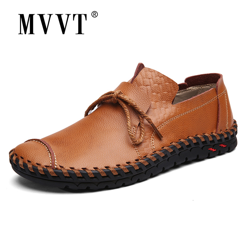 Spring Men Shoes Men Loafers Leisure Split Leather Shoes Super Soft Men Flats Casual Shoes