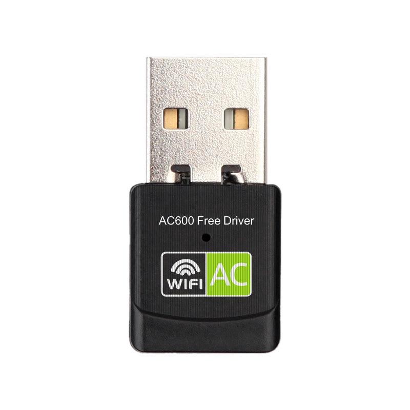 WiFi донгл 2,4 ГГц 5,8 ггц WiFi сетевая карта 802.11ac 600 Мбит/с беспроводной USB адаптер двухдиапазонный Бесплатный привод