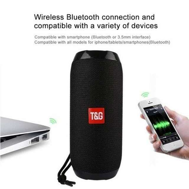 Portable Wireless Bluetooth Speakers TG117 Soundbar stereo subwoofer Outdoor Sports IPX5 Waterproof Support TF Card FM Radio AUX 3