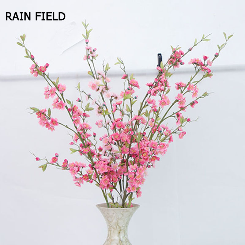 Artificial Flowers Plants for Decoration Quality Peach Blossom Bridal Bouquet The Wedding Party