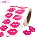 Lippen Aufkleber, Abnehmbare Aufkleber Perforierte Selbstklebende Küsse Aufkleber für DIY Dekorieren Crafting, Insgesamt 500 Stück Pro Rolle